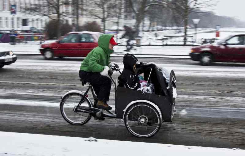 En hiver, il faut s'habiller en conséquence pour affronter le froid à vélo