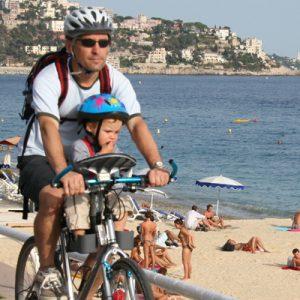 Siège vélo confortable pour l'enfant