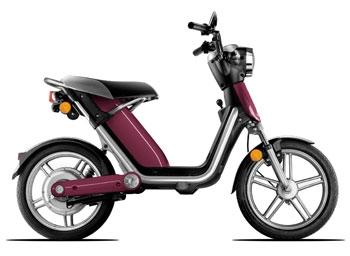 Matra présente son nouveau deux roues électrique.