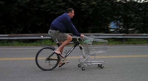 un vélo-caddie