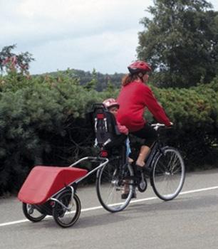 remorque vélo pour faire ses courses à vélo
