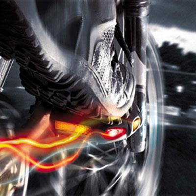 Pédales lumineuses de vélo