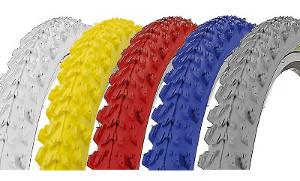 Pneu pour vélo VTT coloré 26 pouces Kenda