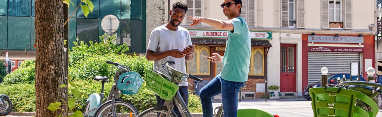 Une application smartphone pour le Vélib'