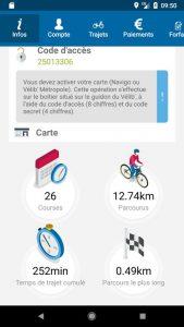 Dans votre profil, consultez vos statistiques sur l'ulisation du Vélib'