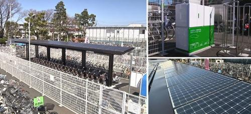 Un parking solaire pour des vélos électriques en location à Tokyo !