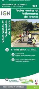 Carte IGN des voies vertes et véloroutes de France