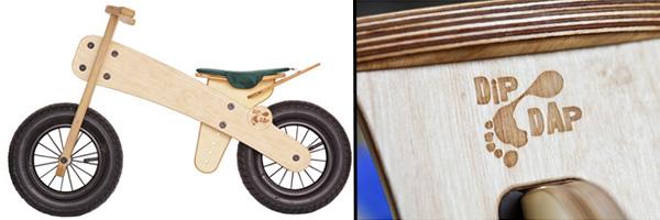Vélo d'apprentissage en bois dip dap
