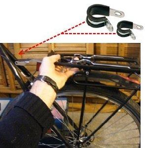 Colliers de montage sur haubans vélo