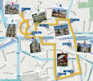 parcours des visites guidées à vélo