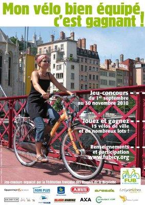 Le jeu concours FUB «Mon vélo bien équipé, c'est gagnant» !