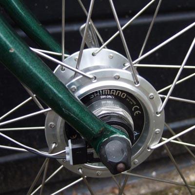Roue vélo avant avec dynamo