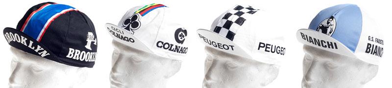 Casquettes pour cyclistes au look rétro
