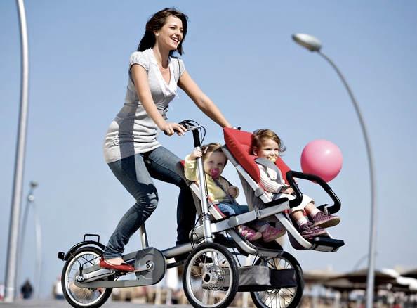 La maman active en vélo