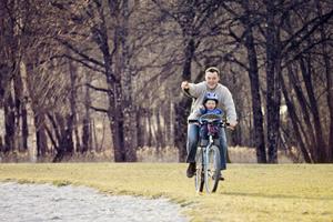 En balade à vélo avec le Weeride !