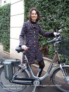 Le concours continue avec Odile et son vélo électrique…