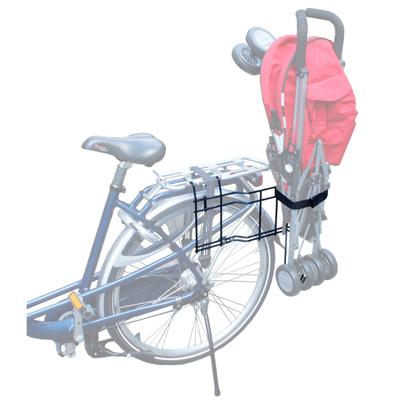transporter sa poussette à vélo