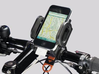 Un support classique de smartphone pour vélo