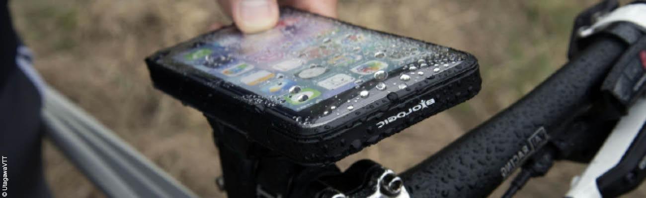 Connecté à vélo : le support et la coque pour smartphone