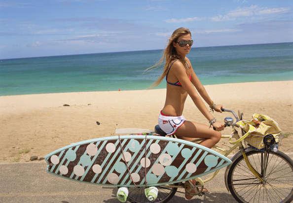 Transporter son matos de kitesurf à vélo