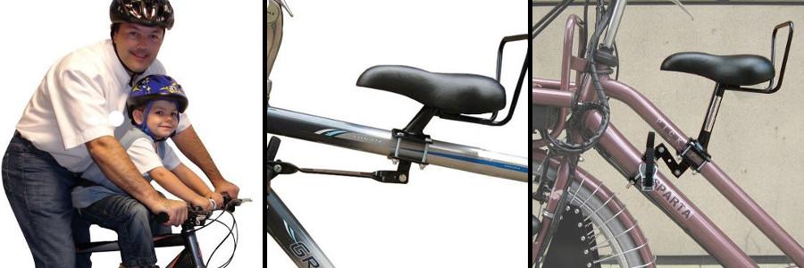 Selles à installer sur le tube du vélo pour les enfants