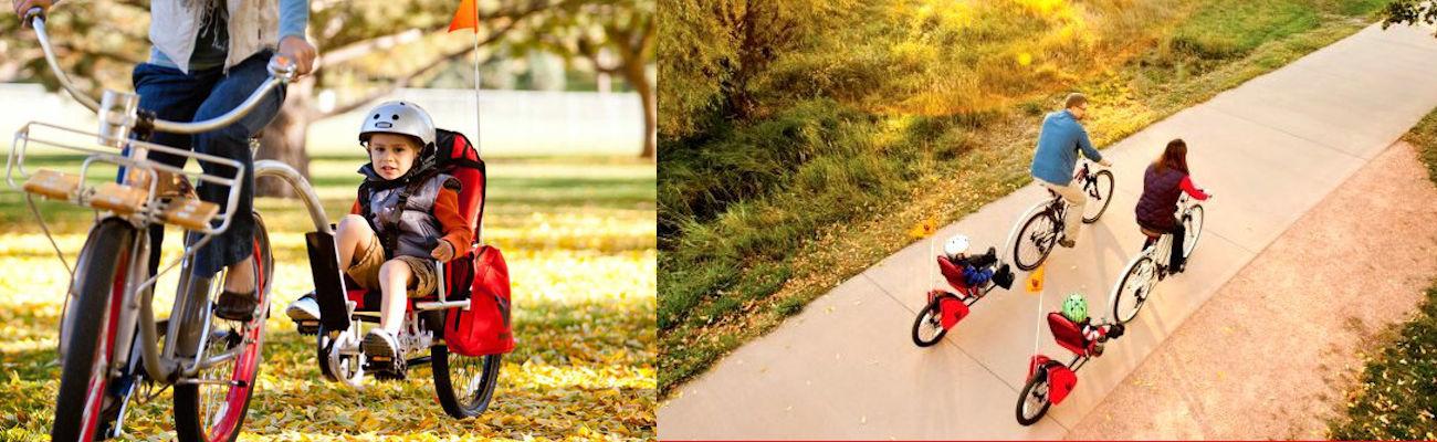 Remorques vélo enfant Weehoo : participer et pédaler avec ses parents