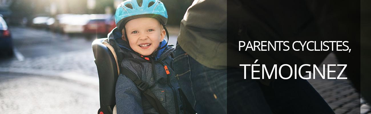 Appel à témoignages « J'emmène mes enfants à l'école à vélo »
