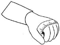 mesurer son tour de main