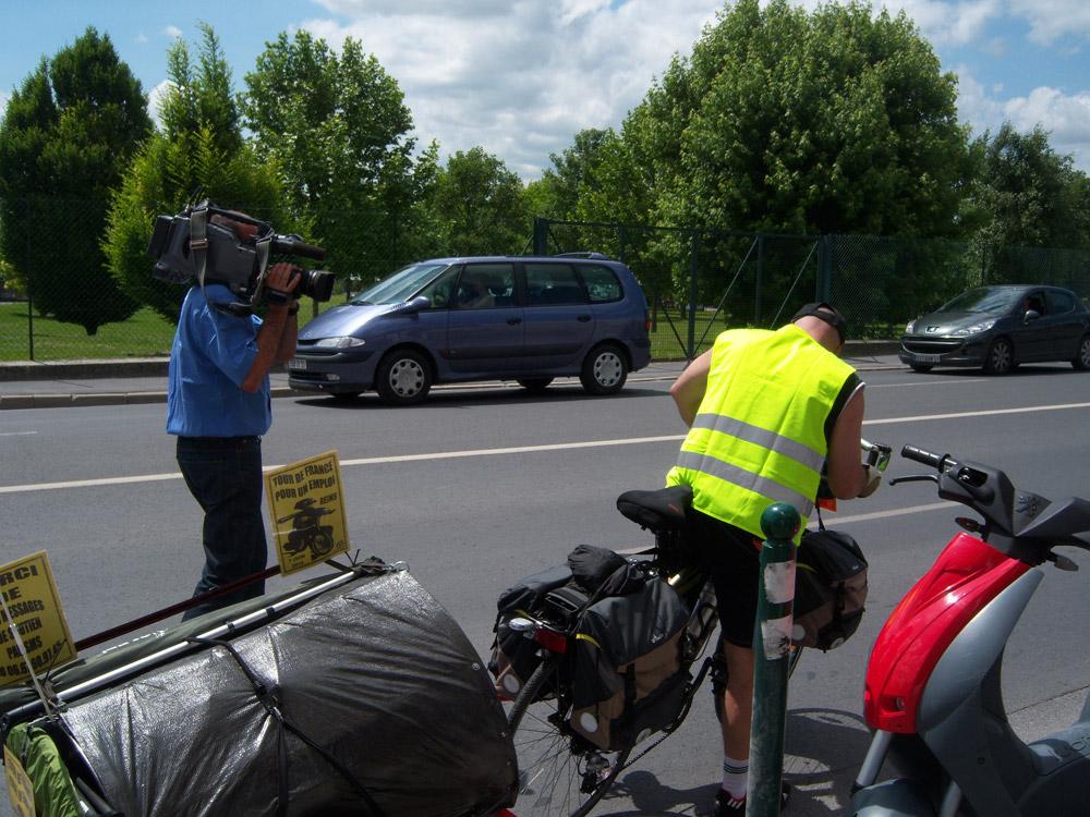 Tour de France en vélo pour un emploi