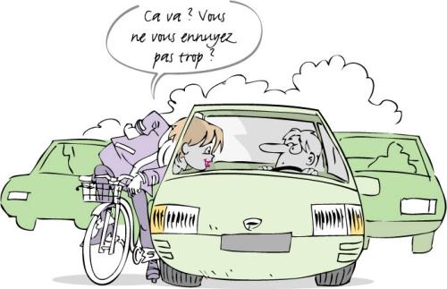 Pratique du vélo pour contrer les bouchons