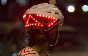 Casque lumineux à vélo pour plus de sécurité