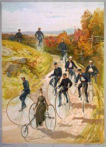 Premiers voyages à vélo en groupe en 1887