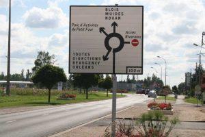 Panneau de signalisation d'un rond-point
