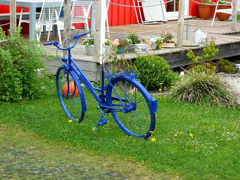 Concours photo «L'insolite dans le vélo»: La bicyclette bleue
