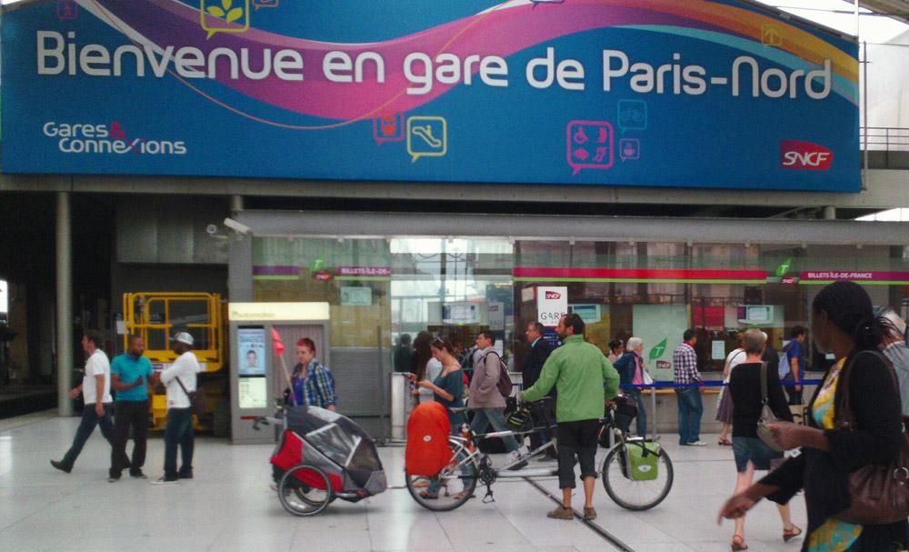 Concours photo « L'insolite dans le vélo »: Un tandem dans la gare