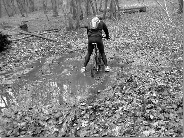 Concours photo «L'insolite dans le vélo»: Un vélo trainé dans la boue