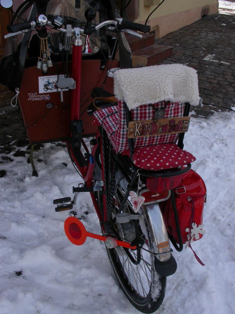 équipement du vélo biporteur