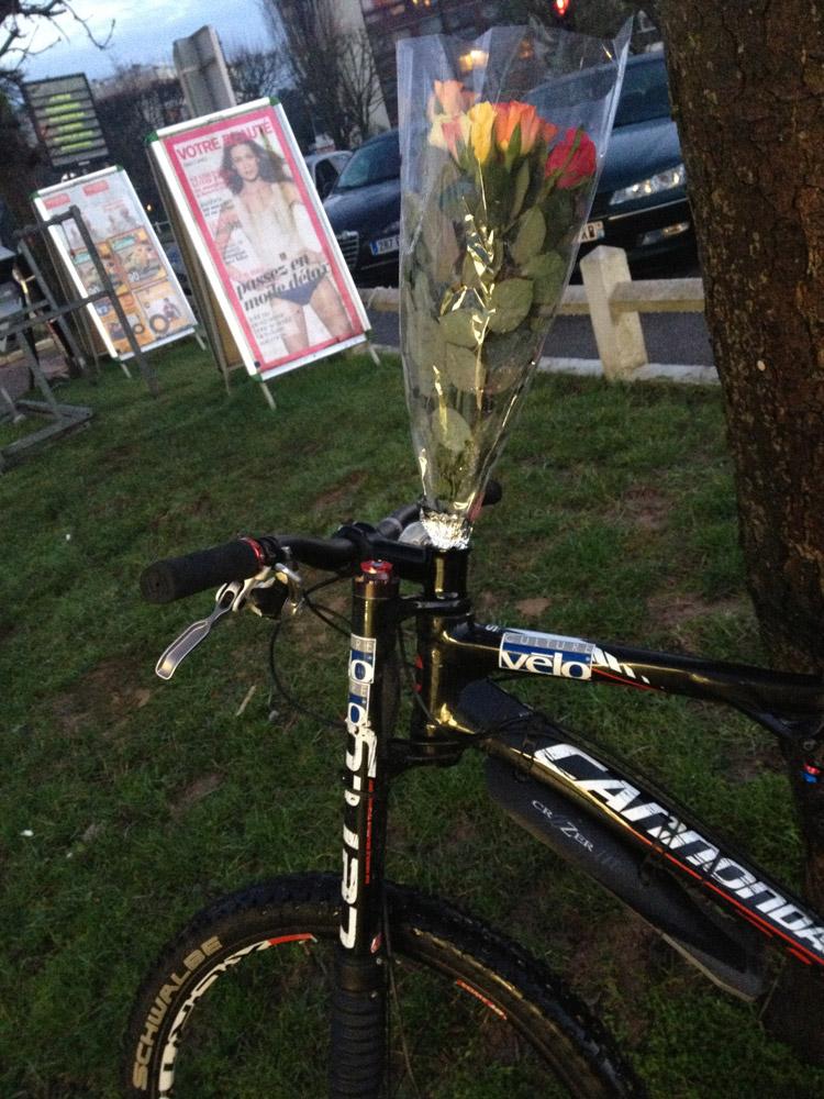 Concours photo « L'insolite dans le vélo » : Le vélo de la Saint Valentin