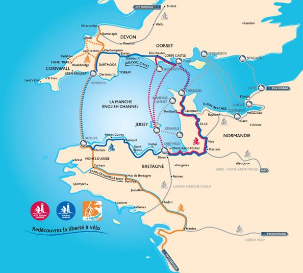 Voyage à vélo la carte des parcours