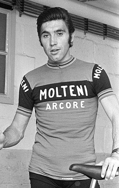 Eddy Merckx sous les couleurs de son équipe Molteni en 1973