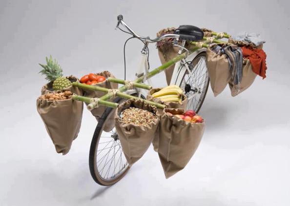 Les travailleurs à vélo : Les légumes à vélo en Guadeloupe