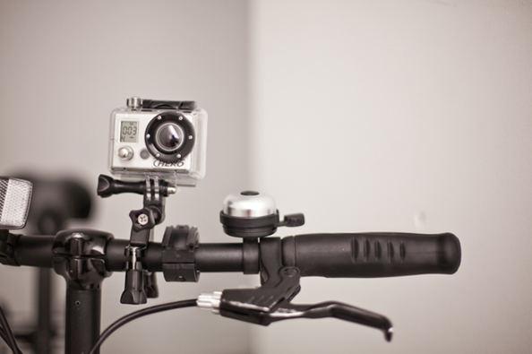 La caméra embarquée ou boîte noire pour vélo