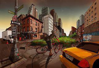 circulation urbaine pour un vélo