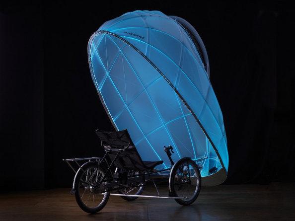 FireFly, le vélo lumineux qui protège de la pluie