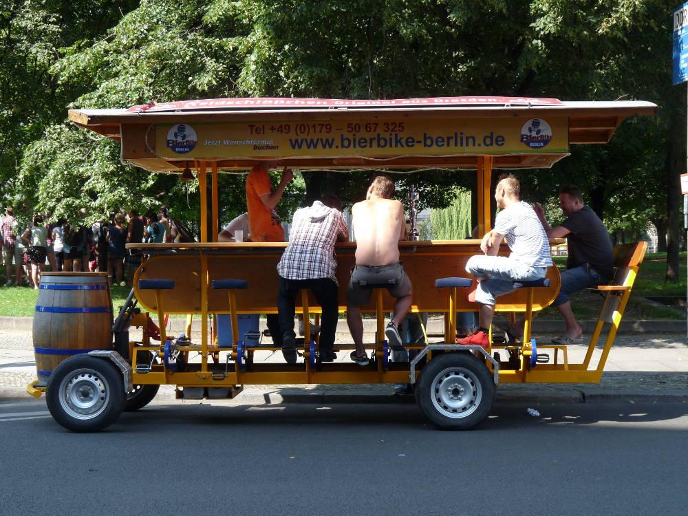 Concours photo « L'insolite dans le vélo » : Le bar à vélo BierBike