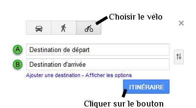 google maps vélo