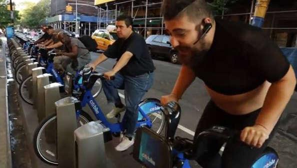 concours de vélo d'appartement à new york