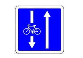 panneau double sens cycliste