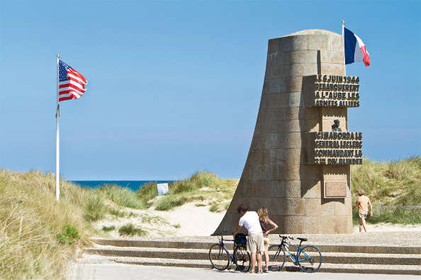 Mémorial sur la plage d'Utah Beach
