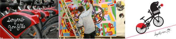 les artistes fêtent le Vélo'V